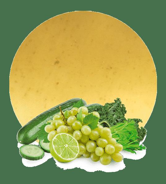 Concentrado de Pepino, Uva, Apio, Col Rizada y Lima
