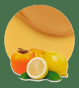 Relleno de kaki y limón
