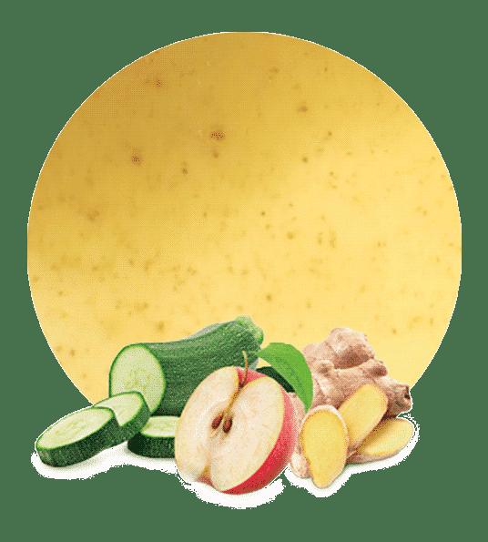 Concentrado de Calabacín, Manzana y Jengibre