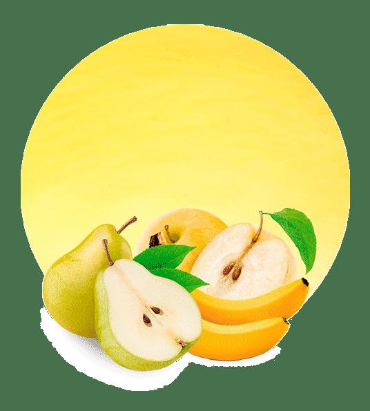 Concentrado de Pera, Plátano, Manzana Amarilla y Calabaza Amarilla