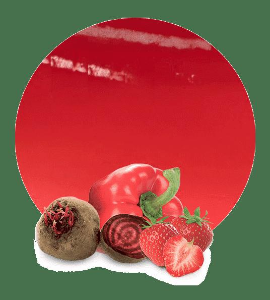 Concentrado de remolacha, fresa y pimiento rojo