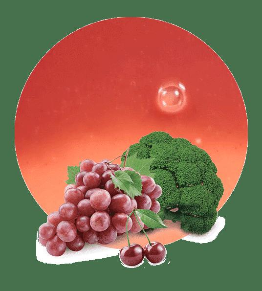 Concentrado de Brocoli, cereza y uva roja