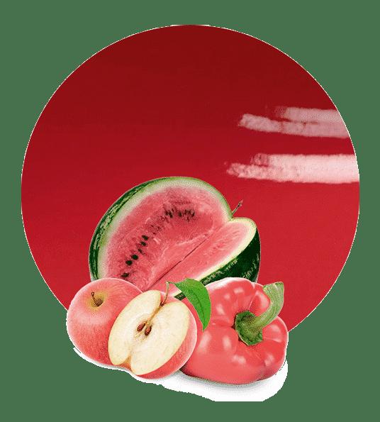 Compota de fruta y verdura roja
